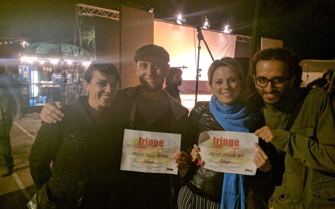 Giorgio premiato al Roma Fringe Fest!